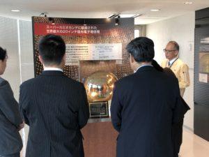 【写真】浜松ホトニクス株式会社での製品説明の様子